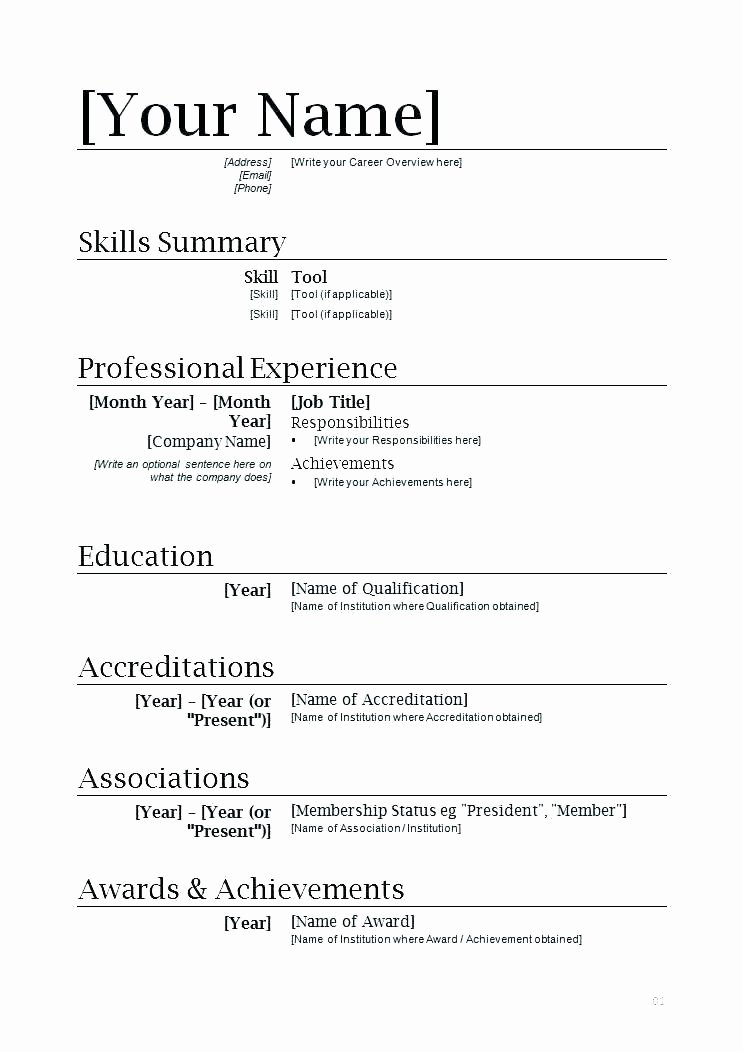 does microsoft word have a resume template
