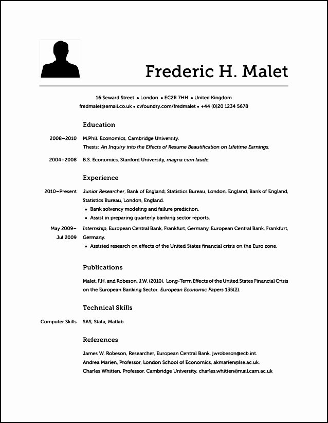 Does Modern Resume Look Like Free Samples Examples