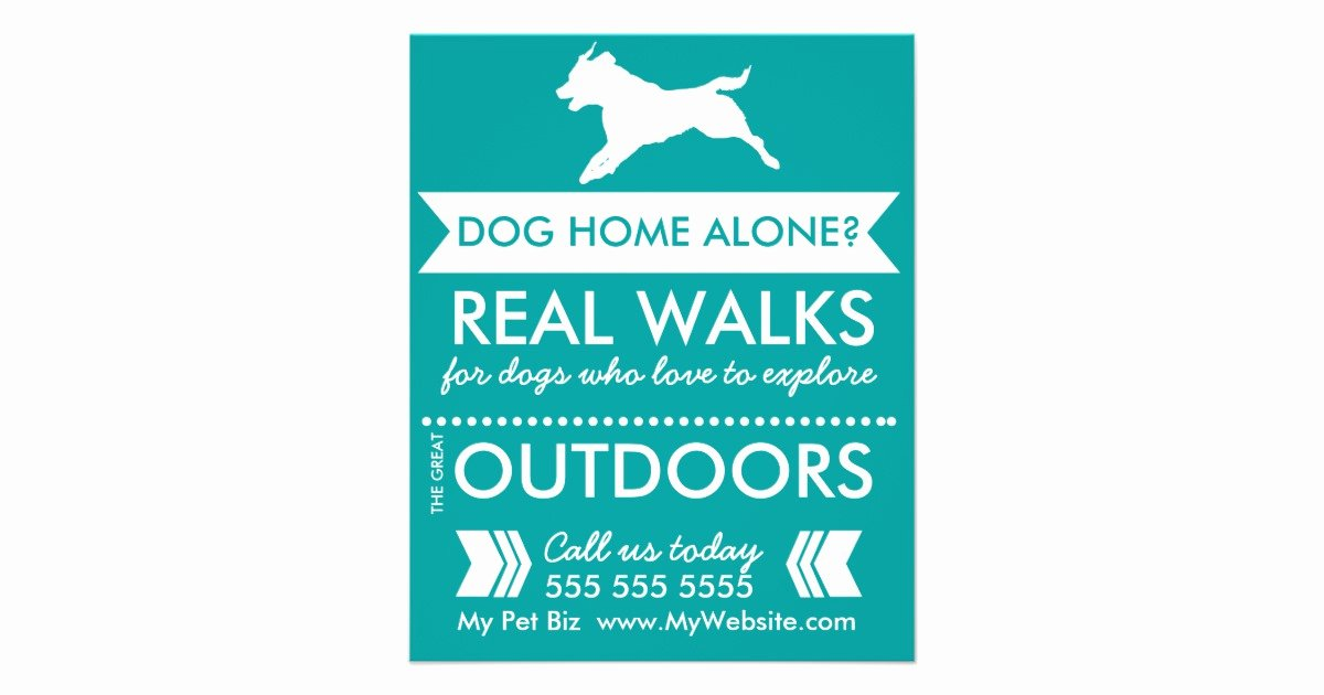 Dog Walker Flyer Personalizable