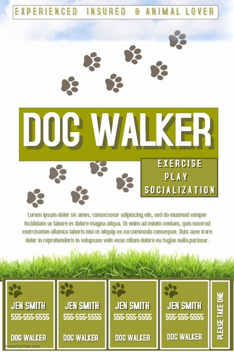 Dog Walker Template