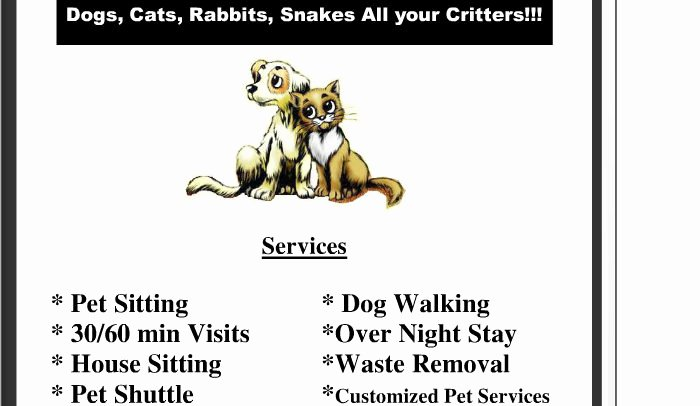 Dog Walking and Pet Sitting Contract Template Templates