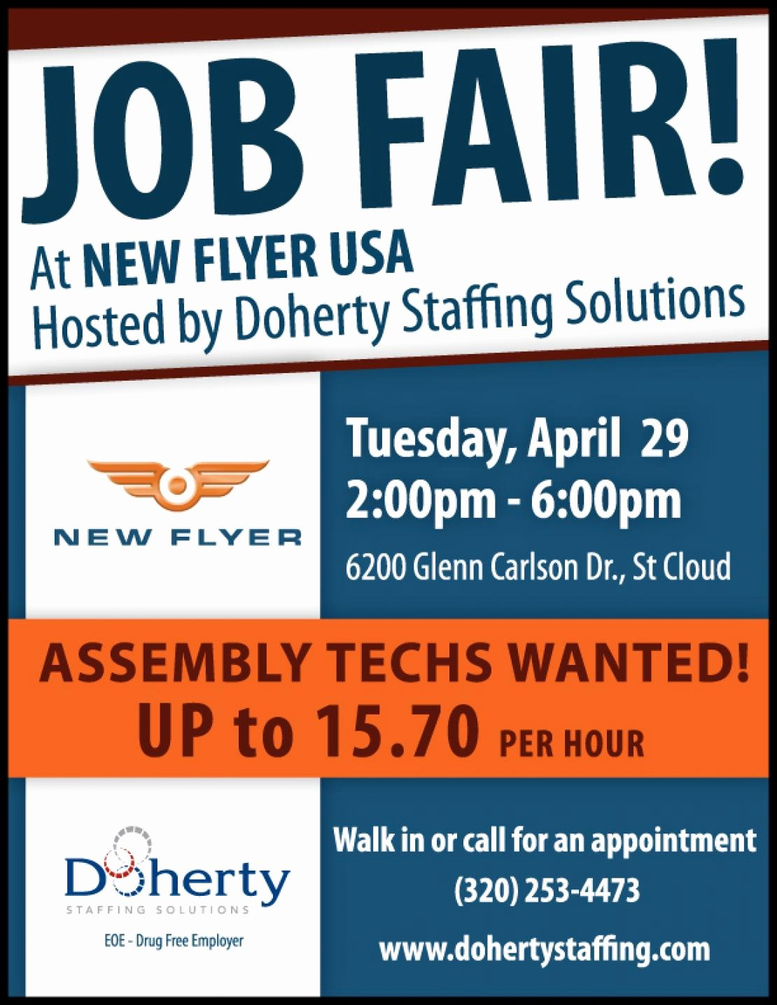 Doherty Job Fair Tuesday April 29 In St Cloud for New