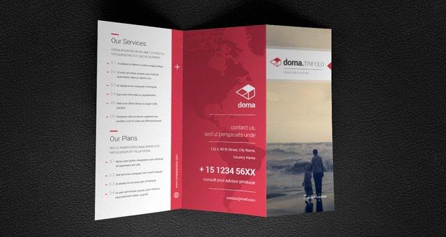 Doma Tri Fold Brochure Template Brochure Templates