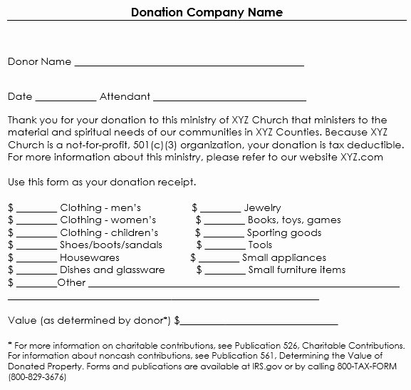 Donation Receipt Template for 501c3 Templates Resume