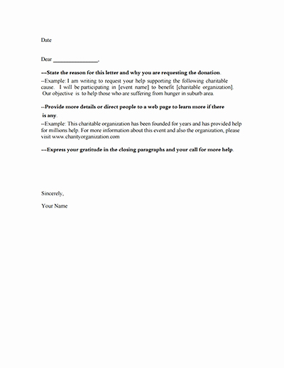 Donation Request Letter Template Download Create Fill