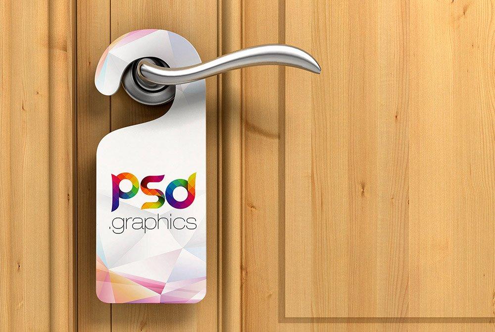 Door Hanger Mockup Free Psd