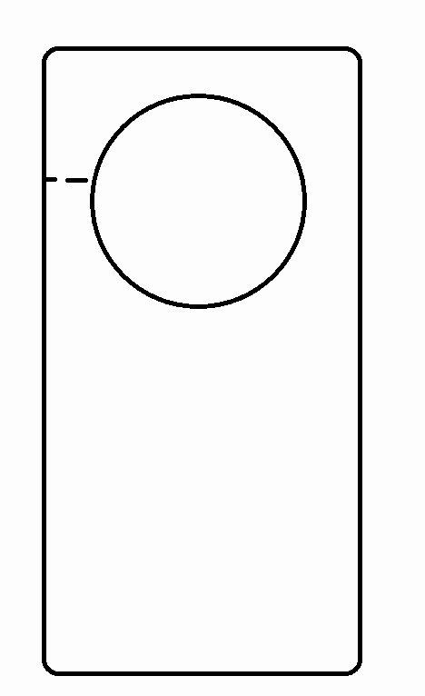 Door Hanger Template