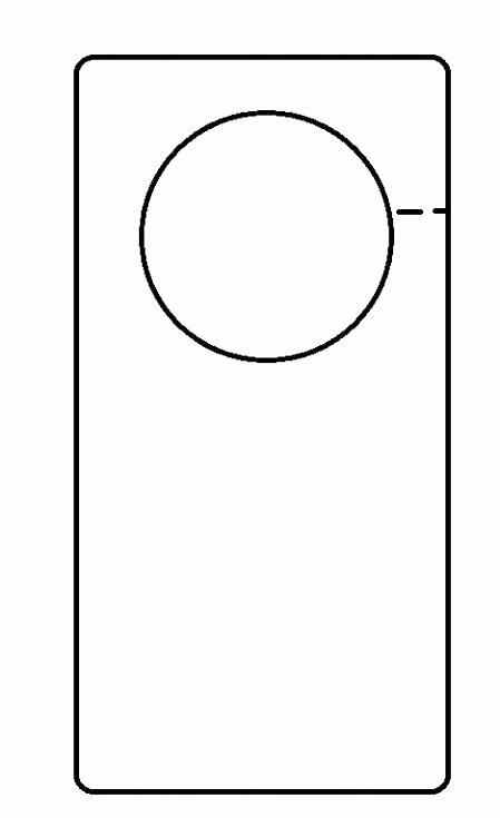 Door Hanger Template & Door Hanger Template Outline Sc 1