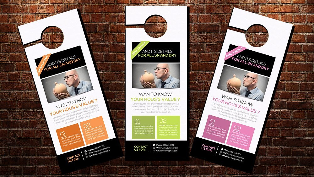 Door Hanger Template Flyer Templates Creative Market