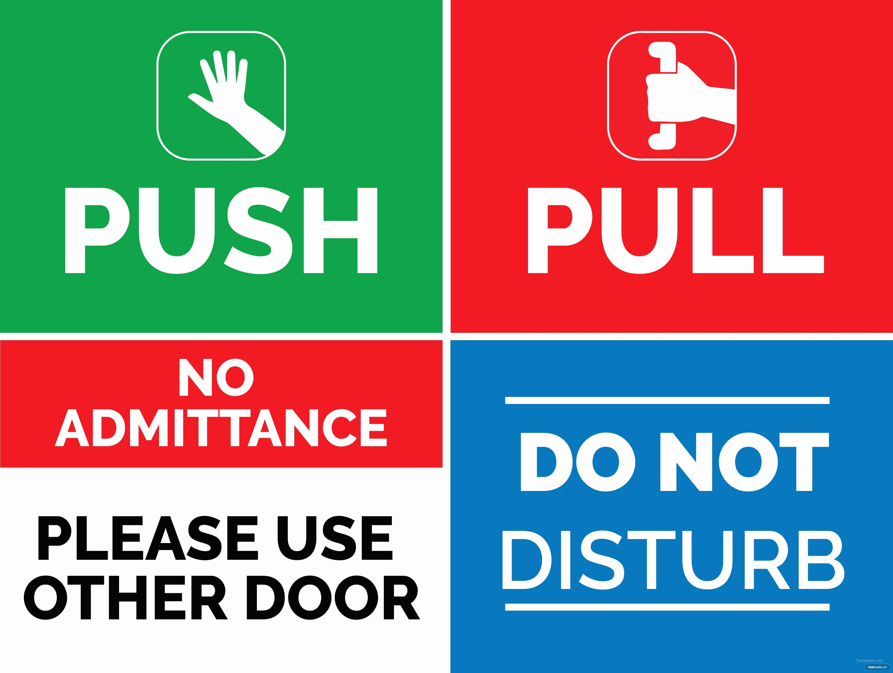 Door Signs Templates & Door Knob Sign Template 1