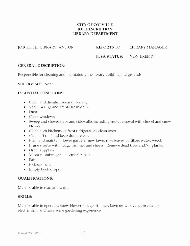 Dorable Professional Custodian Resume Sample Gallery