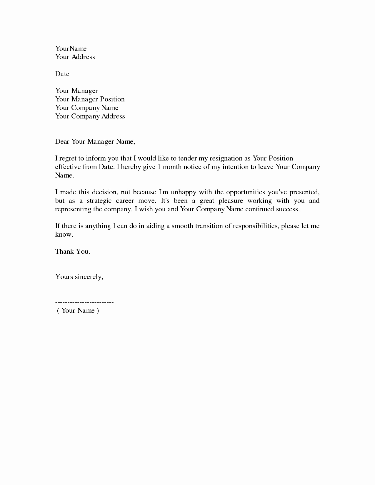 Dos and Don Ts for A Resignation Letter