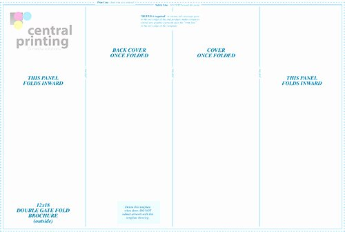 Double Gate Fold Brochure Template Indesign Templates