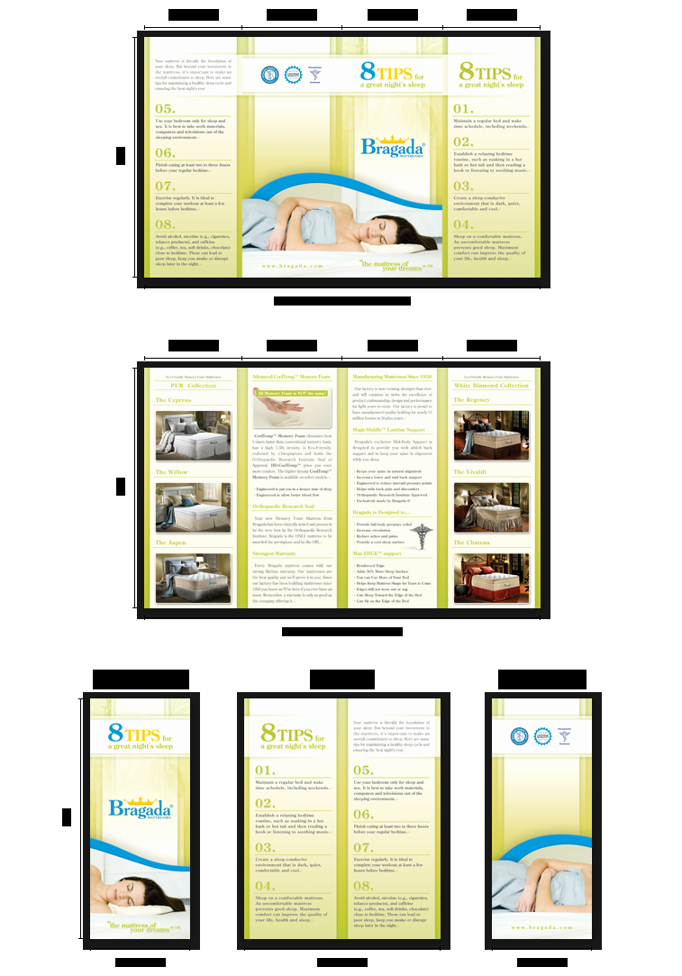 Double Gate Fold Brochures Templates Sizes Layout