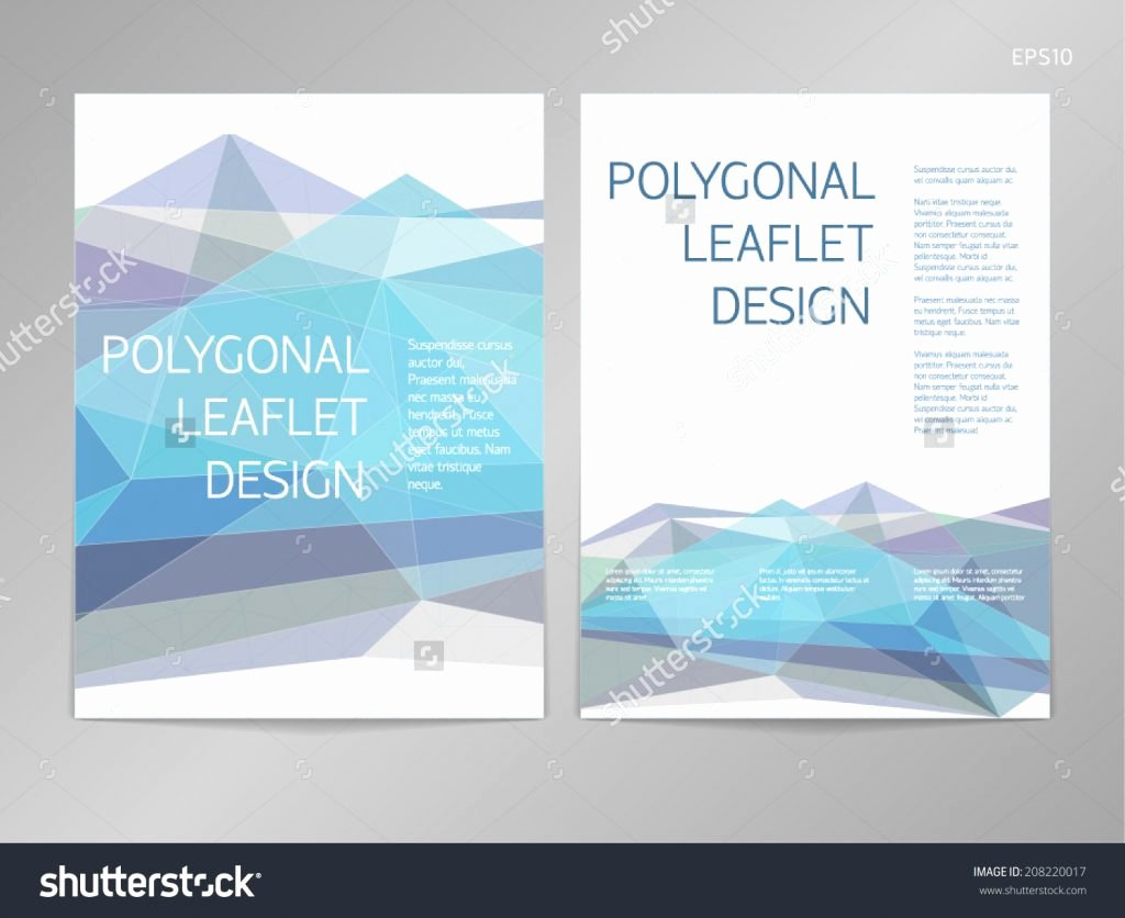 Double Sided Brochure Template Double Sided Brochure