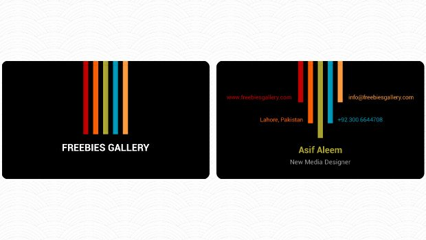 Double Sided Business Card Template Freebies Gallery