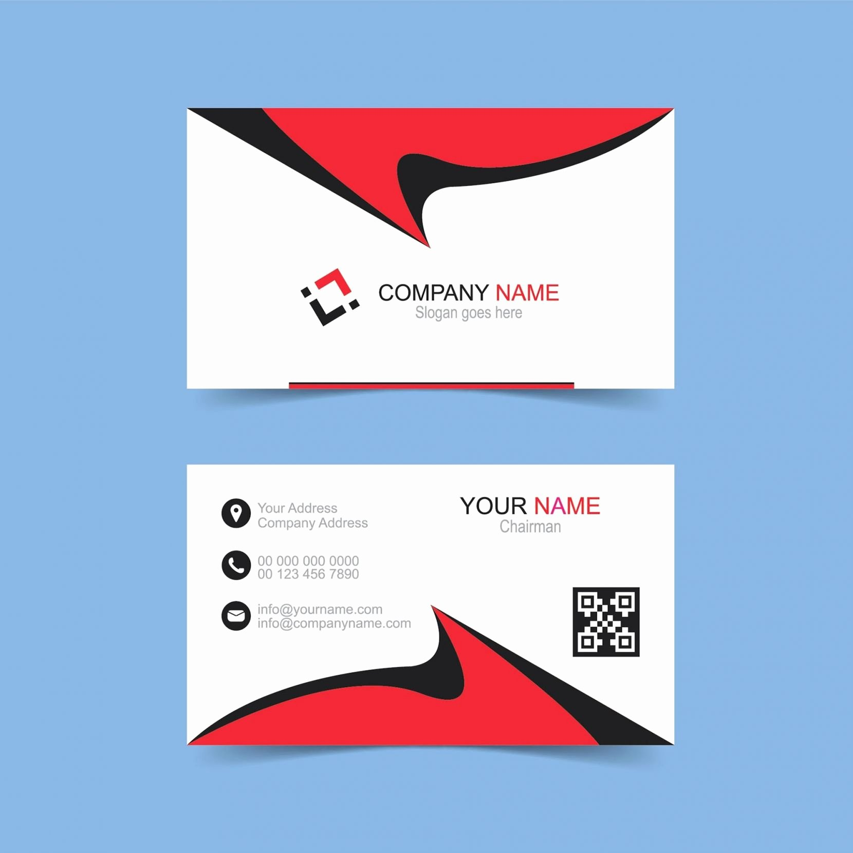 Double Sided Business Card Template Hq Fine Business Cards