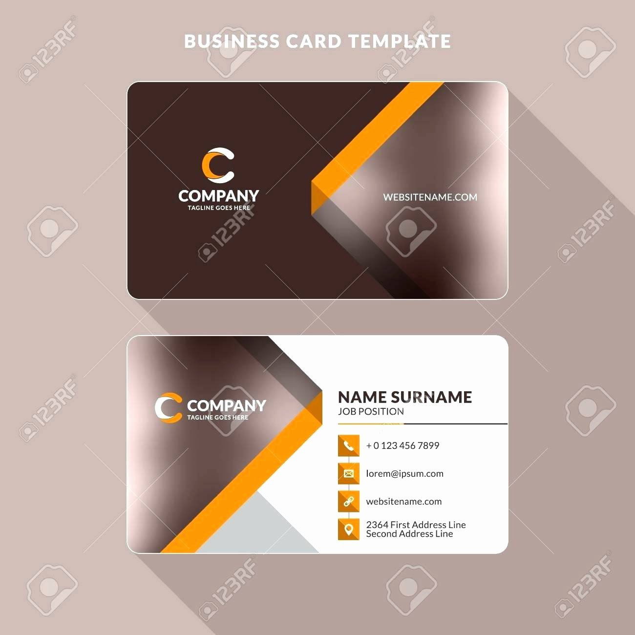 Double Sided Business Card Template Microsoft Word Best