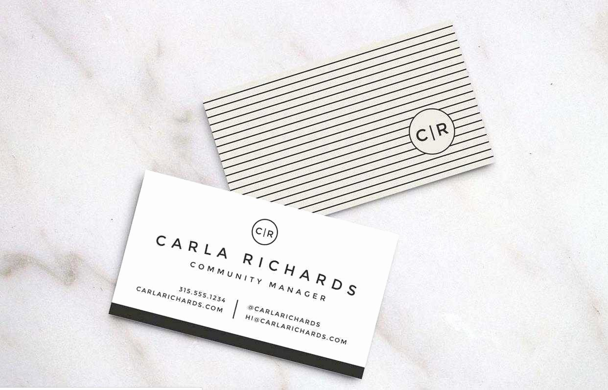 Double Sided Business Card Template Word Elegant Double