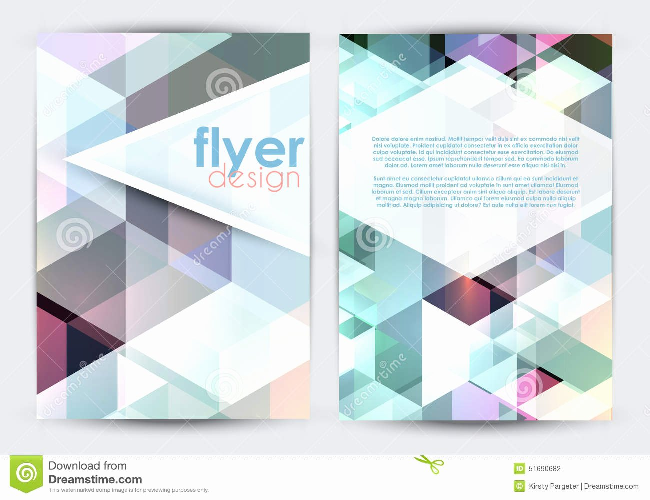 Double Sided Flyer Design Stock Vector Image