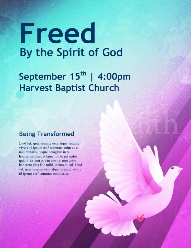 Dove Church Flyer Template Template