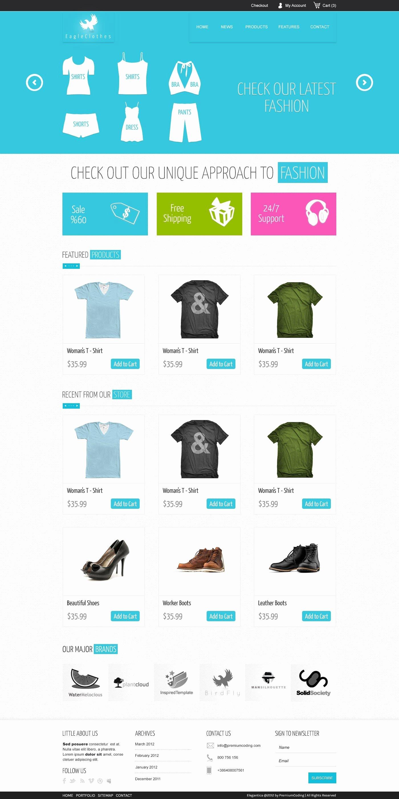 Download 15 Free Psd E Merce Website Designs