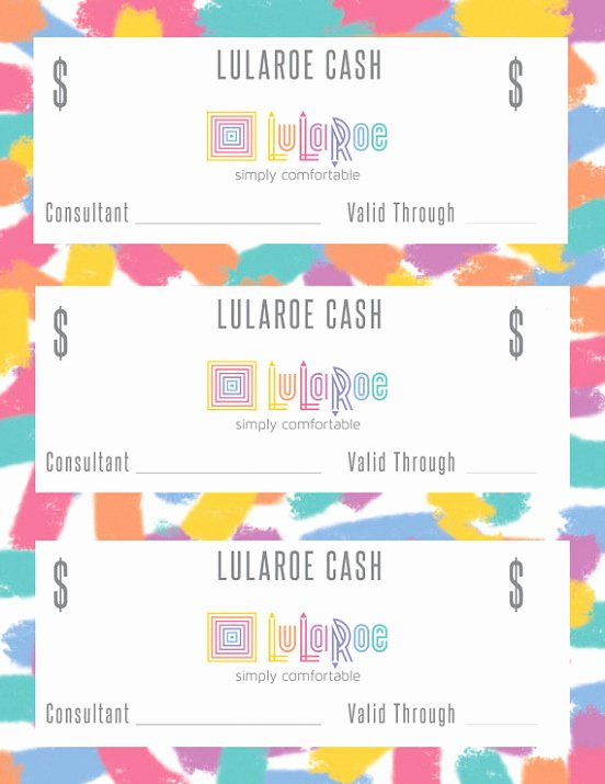 Download 20 Lularoe Gift Certificate Template Spice Up