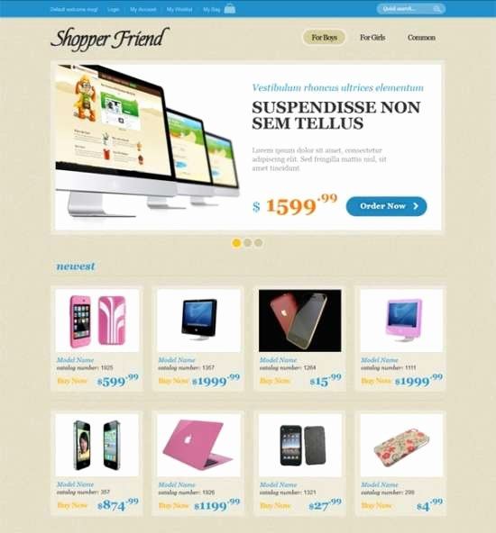 Download 40 Free HTML E Merce Website Templates Xdesigns