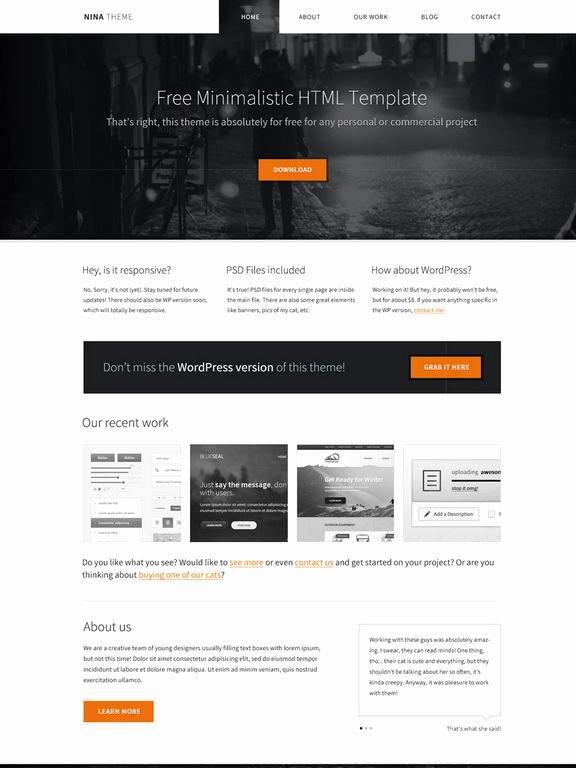 Download 50 Free Css HTML Business Website Templates