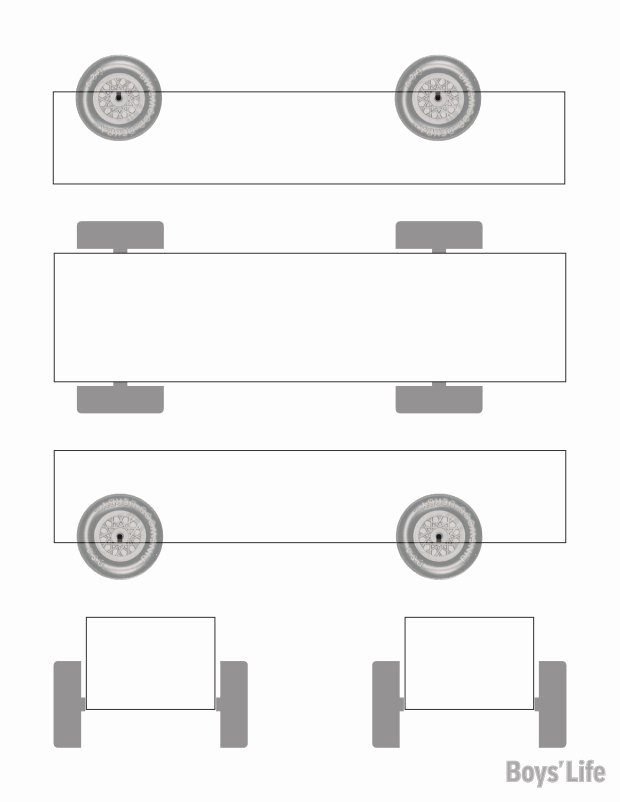 Download A Free Pinewood Derby Car Design Template – Boys