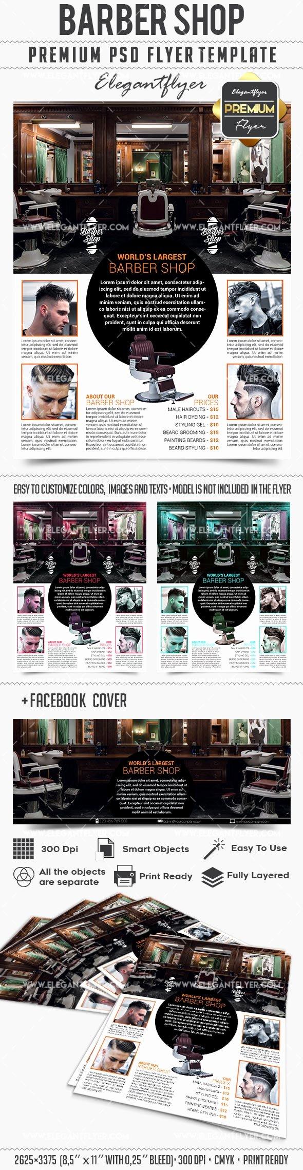 Download Barber Shop – Business Flyer Psd Template