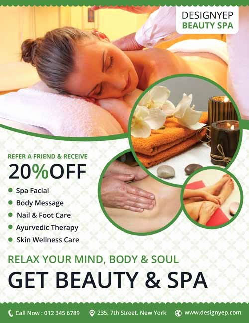 Download Beauty Spa Free Flyer Psd Template