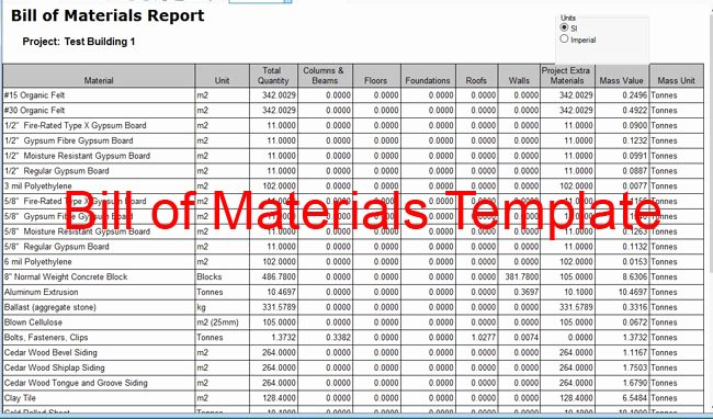 Download Bill Of Material Template Sheet for A