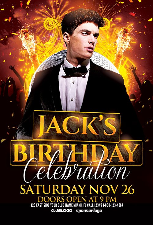 Download Birthday Celebration Flyer Template for Shop