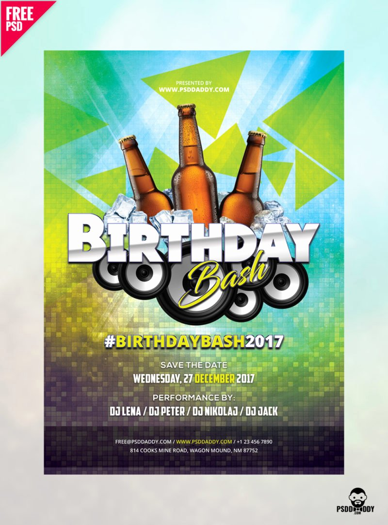 [download] Birthday Flyer Free Psd