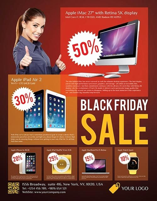 Download Black Friday Sale Free Psd Flyer Template