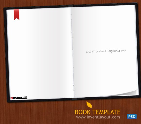 Download Book Template Psd