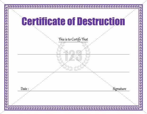 Download Certificate Of Destruction Template