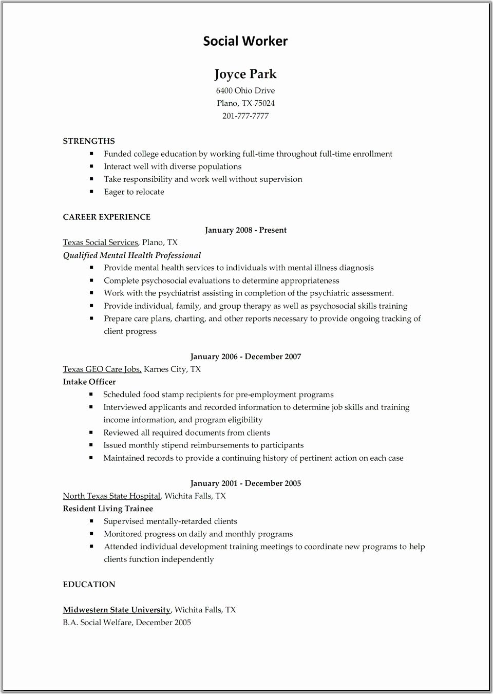 Download Child Care Resume Sample