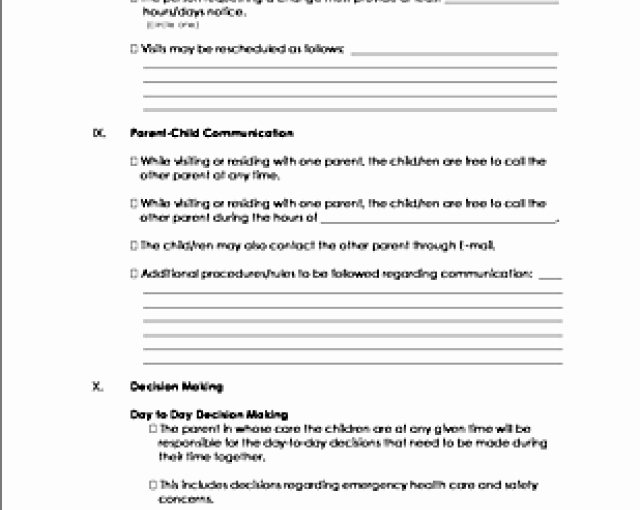 Download Co Parenting Agreement Template – Free Template