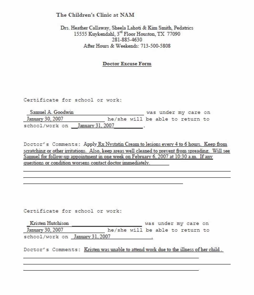 Download Doctors Note Templates Pdf Rtf