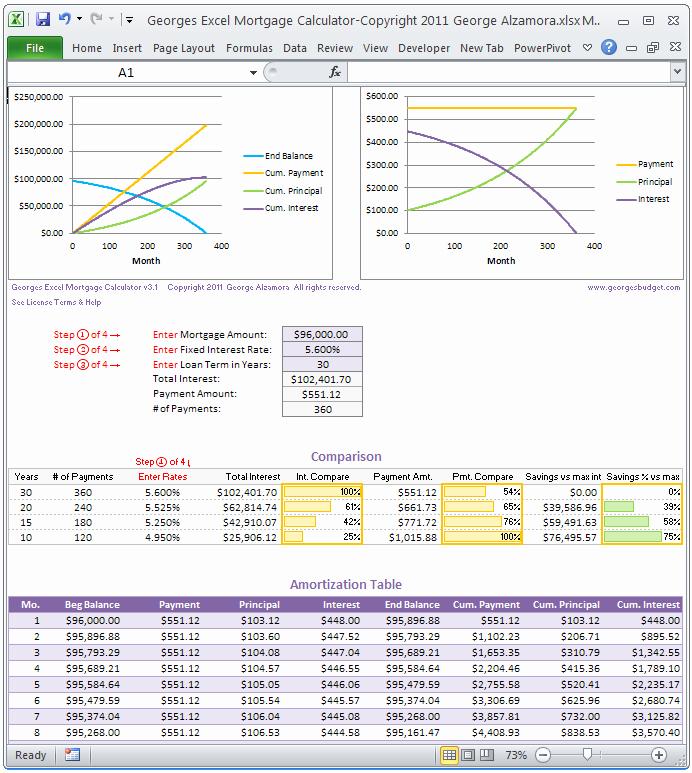 Download Excel Loan Amortization Schedule Calculator