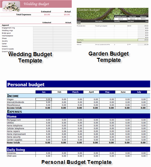 Download Excel Templates for Easy and Effective Bud Ing