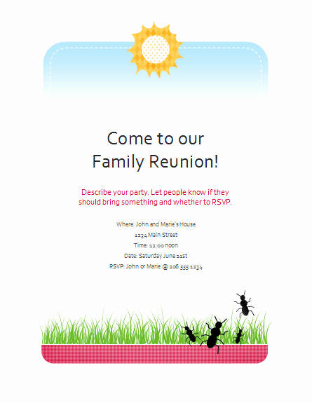 Download Family Reunion Flyer Free Flyer Templates for