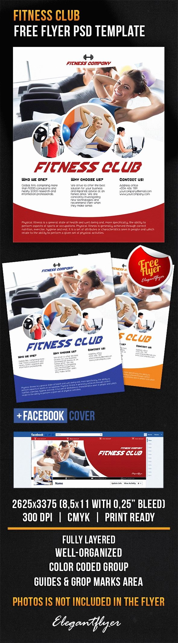 Download Flyer Template Fitness Club Cover