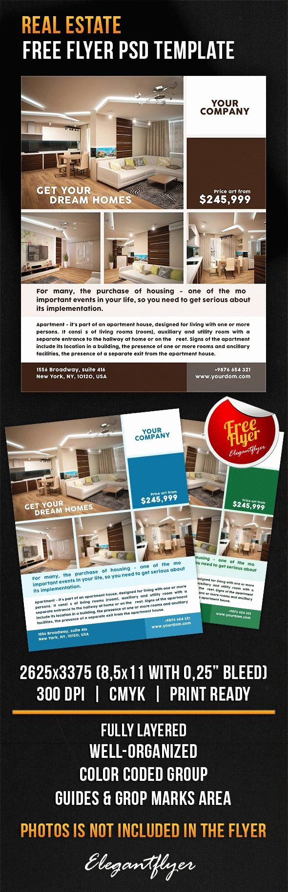 Download Flyer Template Shop Real Estate