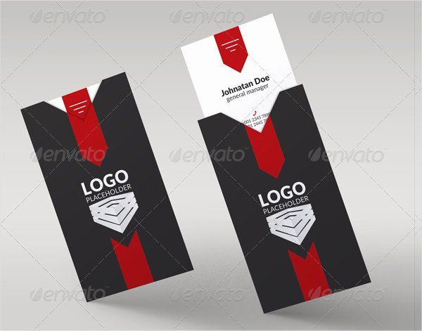Download Folded Business Cards for Free Tidytemplates