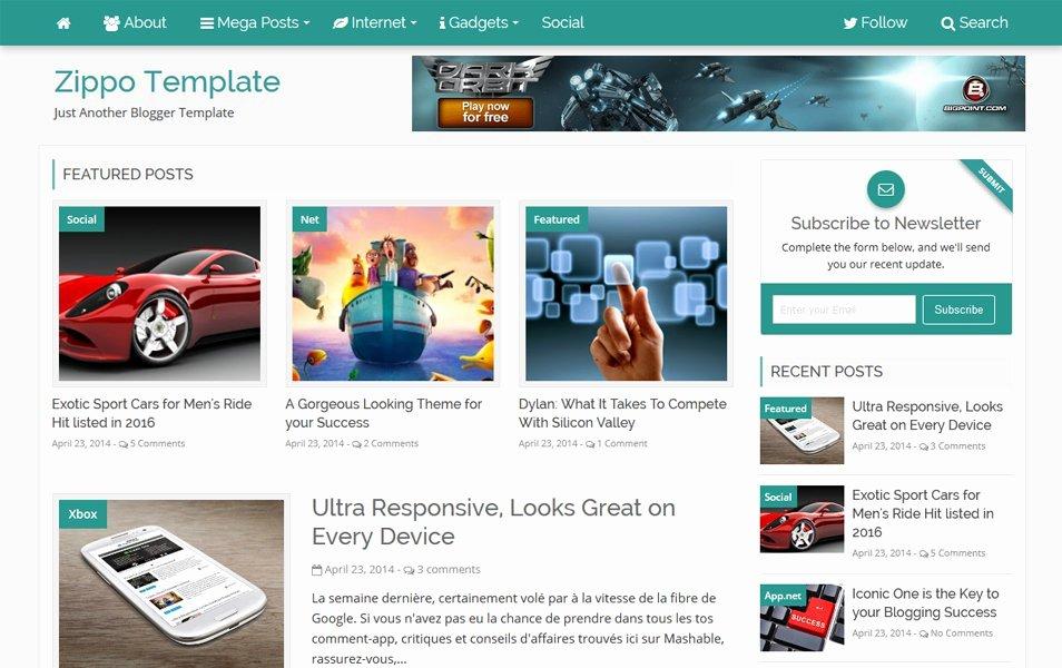 99 best free responsive news magazine blogger