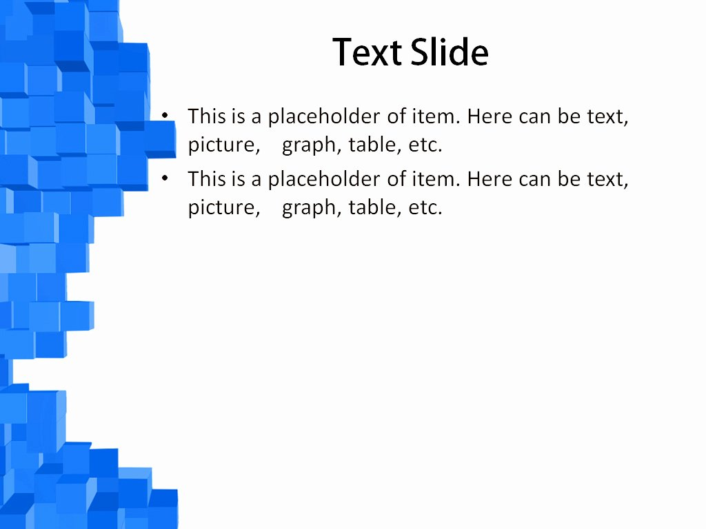 Download Free Blue Cubes Powerpoint Template for