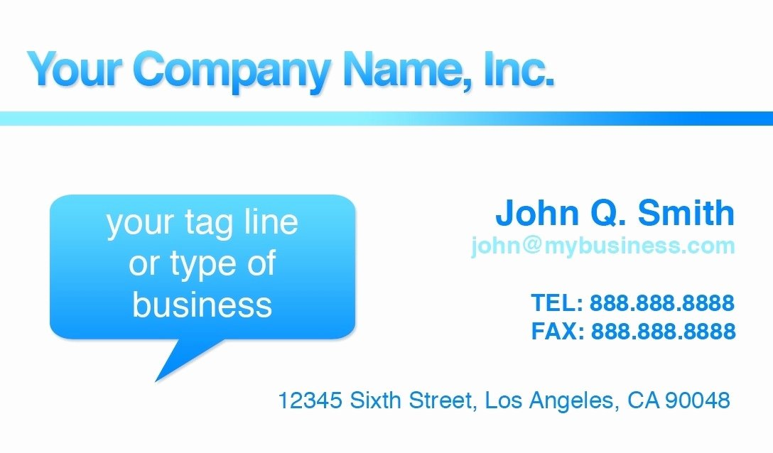 Download Free Business Card Template Microsoft Word